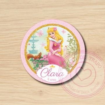 Rótulo para água - Princesa Aurora