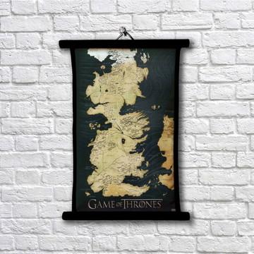 Pergaminho Game of Thrones - Mapa de westeros