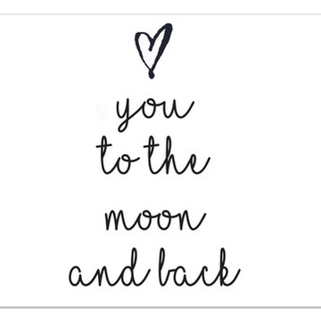 Frase de parede (arame)-Love you to the moon and back