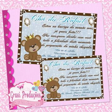 Convite Chá de Bebê Ursinho