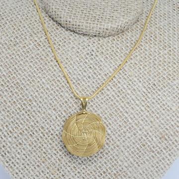 Colar Capim Dourado Mandala