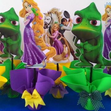 Enfeite de mesa Rapunzel enrolados
