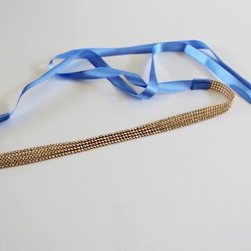 faixa headband criança bebe tiara noiva com manta de strass