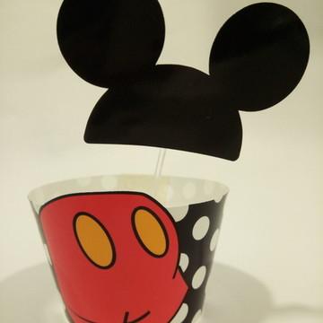 Saia MICKEY cupcake Arquivo de corte silhouette ou PDF