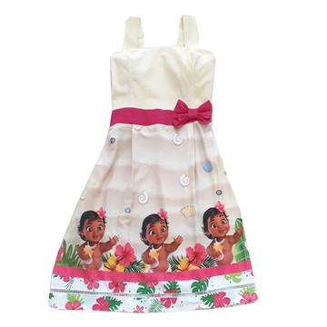 Vestido Moana Baby mãe adulto