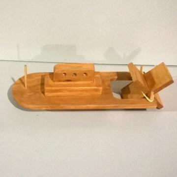 Barco de Madeira com Movimento