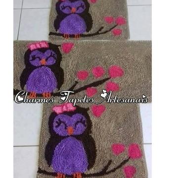 Corujinha tapetes para decoração da cozinha frufru