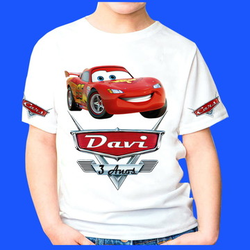 camiseta personalizada Carros 3