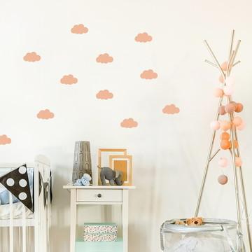 Adesivo mini Nuvens Rosinha salmão