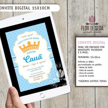 Convite Digital Coroa Príncipe