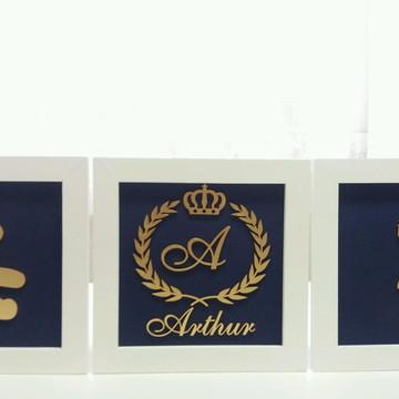 Trio de quadro príncipe