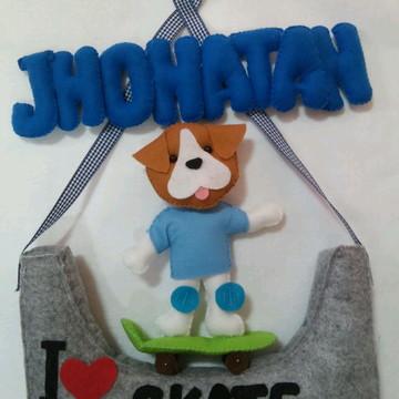 Enfeite Porta Maternidade cachorrinho Jh
