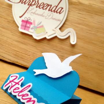 Caixa Chocolate Duplo - Aquarela
