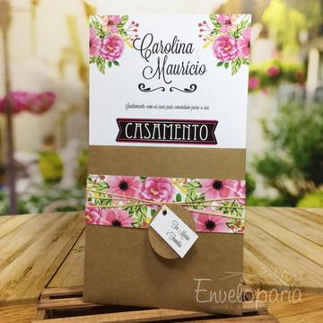 Convite Casamento Flores do Campo
