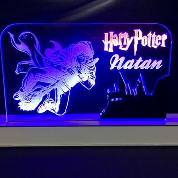 Luminária Harry Potter Relíquias da Morte Personalizado Led