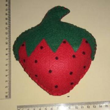 Frutas Decorativas de Feltro - Morango