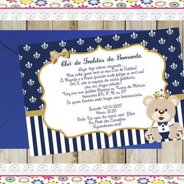 Convite - Urso Realeza