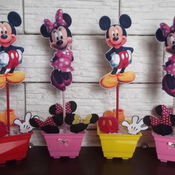 Enfeite de Mesa Mickey e Minie