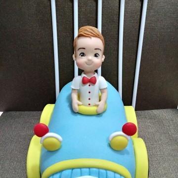 Topo para Bolo tema Menino no Carro