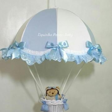 lustre paraquedas pendente infantil aviad