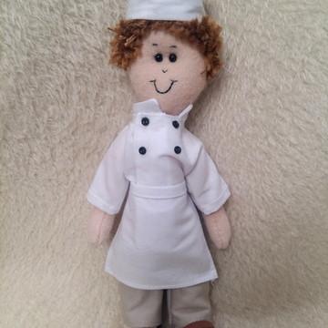 Boneco Profissões Chef de Cozinha