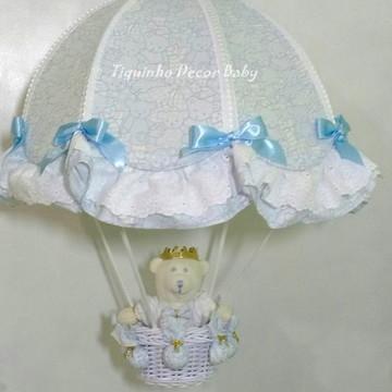 lustre paraquedas pendente infantil urso príncipe