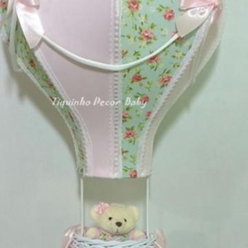 lustre balão pendente floral personalizado com nome