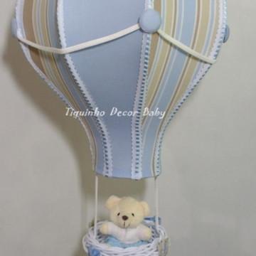 lustre balão pendente listrado personalizado com nome