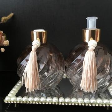 Bandeja com Strass, Pérola e Espelho Luxo