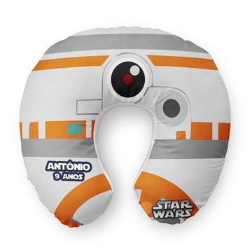 Almofada Pescoço Infantil BB8 Star Wars Personalizada