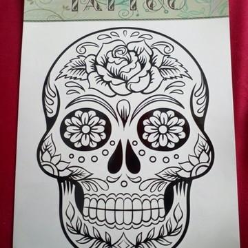 Tatuagem temp mod 67 - Caveira mexicana