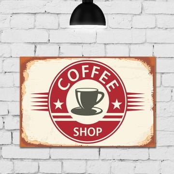 Placa Decorativa MDF Cozinha Coffe Vintage 30x40cm