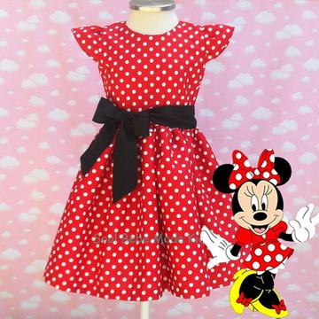 Vestido Festa Infantil Minnie Vermelho