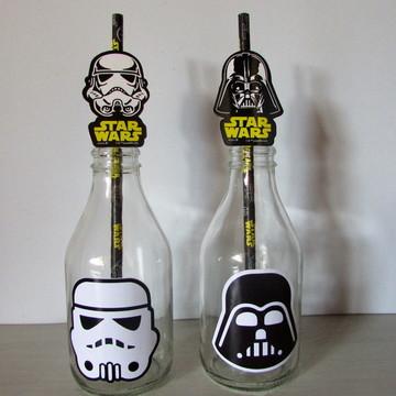 Adesivo para Garrafinha de Suco Star Wars