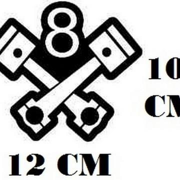 Adesivo Logo 8 Valvulas Frete Grátis