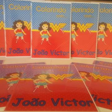 Livro de Colorir Mulher Maravilha para Lembrancinha