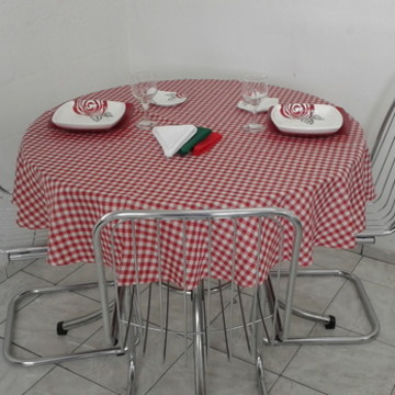 10 Toalha Redonda Tergal 1,40 Pizzaria Festa Junina Italia