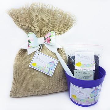 Lembrançinha Kit Ecológico Jardim Encantado
