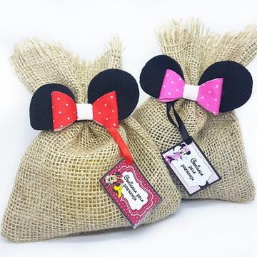 Lembrançinha Kit Ecológico Mickey e Minnie