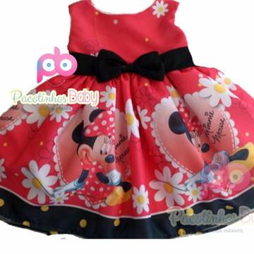 Vestido de Festa Minnie Tam 1 ao 10