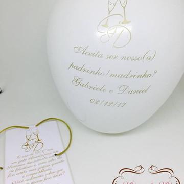 Convite Padrinhos Casamento Bexiga