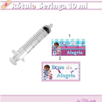 Rótulo para seringa 10 ml