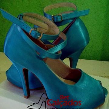 ff72bb7c7a Sapato tira X encanto Turquesa Tiffany