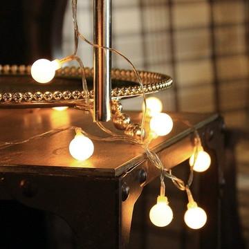 Cordão de luz Avulso CORMILU 20 LEDS luz amarela 110v e 220v