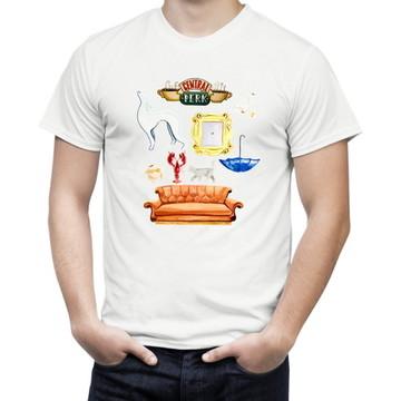 Camiseta de Serie Friends Símbolos