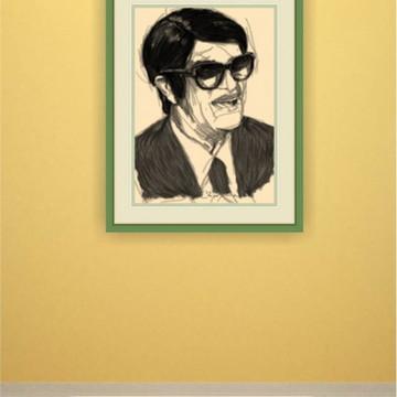 Poster reprodução Chico Xavier 30x42cm laminado Frete Grátis