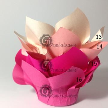 200 forminhas flor para doces finos