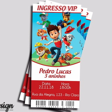CONVITE DIGITAL PATRULHA CANINA INGRESSO VIP