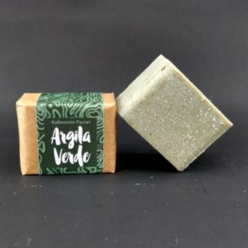 Sabonete facial de argila verde
