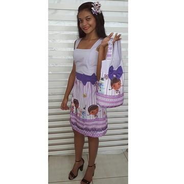 Vestido Mãe Doutora Brinquedos Adulto + bolsa